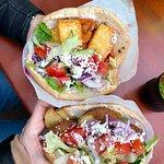 kebab vege + kebab falafel