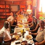 Jantar de amigos, onde o menu foi Moamba de Galinha.