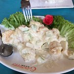 Prawns in apple salad - yummy