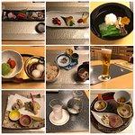 和食膳 松風。飲み物は空知ビールと冷酒を注文。