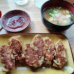 Gyoza et soupe Miso