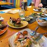Sea Bass, Chicken Tikka, Lamb Kofta
