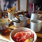 salada de tomate e pimento