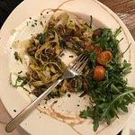 makaron i borowiki pod grubbbbaaa pierzyna z rukoli