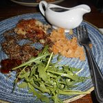 Haggis, neaps and tatties. Very small portions for £11 25p. I had only eaten a tiny amount when