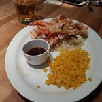Chicken And Shrimp with corn