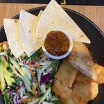 """Special Menu"" - Fish, Salad and Flat Bread"