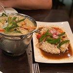 Thai Green Curry and Squid Stir-Fried in Black Bean Sauce!