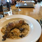 Wild Mushroom Risotto with Chicken Leg. Super delicious, and cooked to perfection!