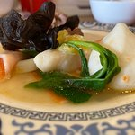 Hotpot fish balls and mushrooms