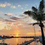 Beautiful sunset view over the marina.