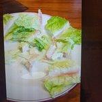 billede af cæsarsalat fra videoen jeg optog i restaurenten