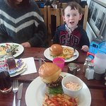 Burgers for lunch, yummy!