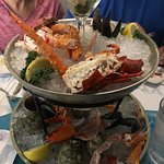 Seafood Tower Appetizer. (with some portions already missing - sorry)