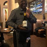 Here's Michael with the Jordan Chardonnay he recommended.
