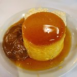 Creme caramel, dulce de leche and an extra dollop of cream.