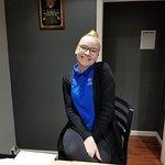 Sweetest desk clerk ever! 😊❤