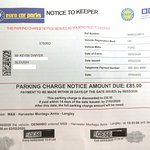 Parking ticket from Montagu Arms Harvester. No apologies. No customer service, hey, sorry, I'll