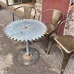 Outdoor sidewalk table