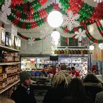 Busy lunchtime at Faicco's Pork Store in NYC (14/Feb/20).