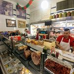 The deli counter at Faicco's Pork Store in NYC (14/Feb/20).