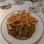 Steak cooked medium