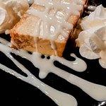 Pan de calatrava con chocolate blanco.