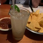 Complimentary chips and salsa with my Margarita