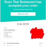 The restaurant can accept the order but not cancel and refund money???