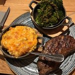 Sirloin, House 'Hash Browns' with Brisket & Cheddar & Broccoli Tossed in Spicy Chimichurri