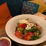 Швили, салат с хрустящими баклажанами
