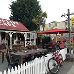 Front of the restaurant in the center of Te Anau
