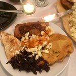 Portion from platter