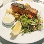 Fish of the day - grilled salmon at $26 with no member discount.