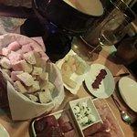 fondue de queijo e carne