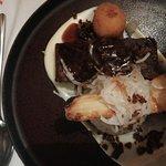 Slow cooked beef shin crispy marrow, whole grain mustard mash, confit parsnip, pickled turnip, j