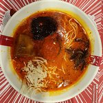 Spicy broth, thin ramen with pork belly
