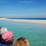 Banc de sable de Guiriden en arrivant dans l'archipel