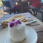 The coconut cake dessert is to die for.