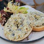 Mixed mushroom pickles tata egg bagel