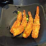 melhor camarão empanado que comi