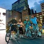 Bicicletas en la noche Chicago Fireworks Tour