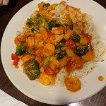 Thai chili shrimp rice bowl