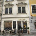 Der Eingang zum Café Gloria...am Thomaskirchhof leicht zu finden