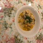 Meeresfrüchte-Risotto mit Krustentierschaum