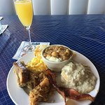 Sunday brunch with a mimosa