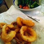 Crispy pickled onion rings