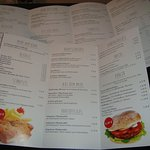 Auszug aus der Speisekarte mit den jeweiligen Preisen