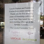 Locale Market: the Last Note at the Entrance