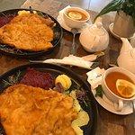 Pork chop, potatoes, beetroot and a great tea!
